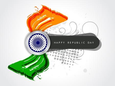 Beautiful Indian flag design Stock Vector - 17439821