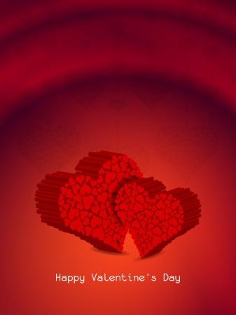 Beautiful heart background. Stock Vector - 17439845