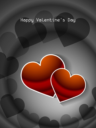 Beautiful love background with hearts. Vector