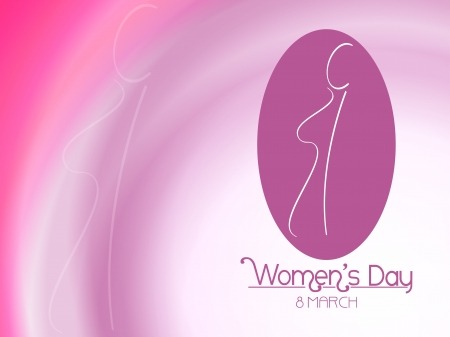 women s day: Beautiful background design for 8 march  Illustration
