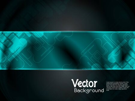 abstract modern designed colorful background with black banner. Vector