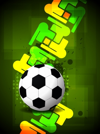 creative football background with colorful modern design.  illustration Vector