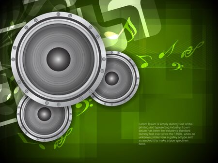 beautiful music theme modern designed background with loudspeakers, Vector