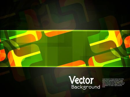 abstract modern designed colorful background with black banner. Stock Vector - 17996068