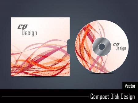cd label: Presentation of vector cd cover design.