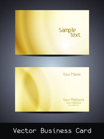 visiting card design: Presentation of visiting card design. Illustration