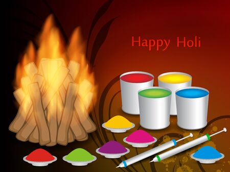 abstract colorful background for indian festival Holi. vector illustration Stock Vector - 18136903