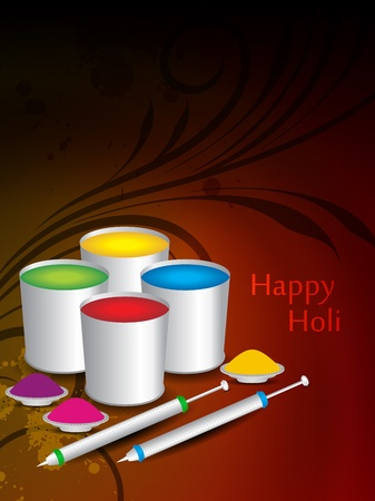 dhulandi: abstract colorful background for indian festival Holi. vector illustration Illustration