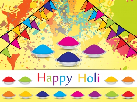 colorful holi: abstract colorful background for indian festival Holi. vector illustration Illustration