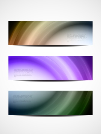 set of abstract web header banner designs Stock Vector - 18242453