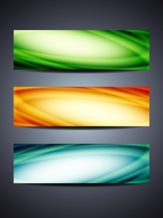 set of abstract web header banner designs Stock Vector - 18242450