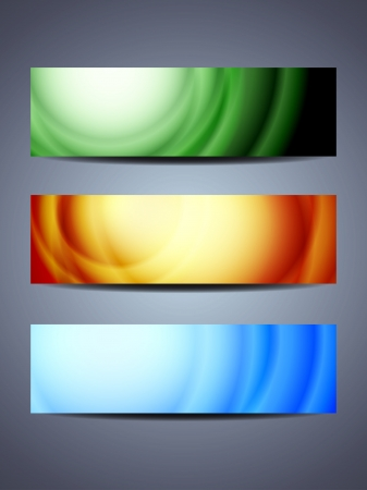 set of abstract web header banner designs Stock Vector - 18242449
