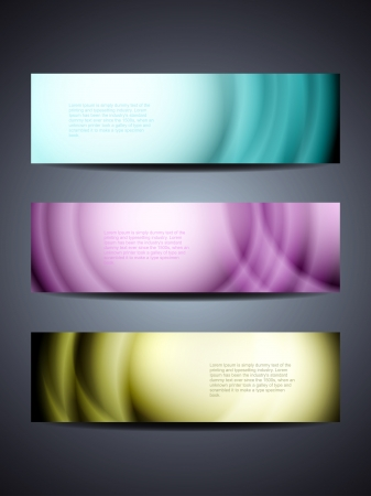 set of abstract web header banner designs Stock Vector - 18242455
