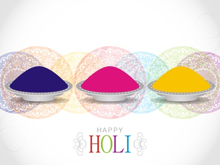 Beautiful background design for Indian festival Holi Vector