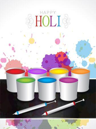 dhulandi: Beautiful background design for Indian festival Holi Illustration