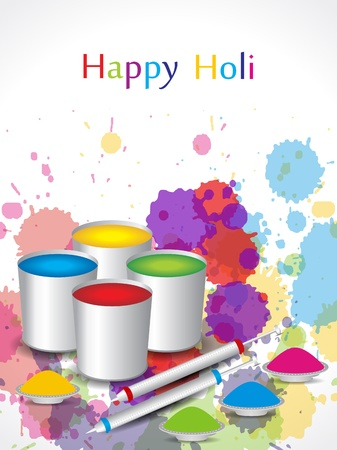 dhulandi: Beautiful background design for Indian festival Holi Illustration