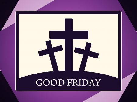 Abstract colorful religious background for good friday. Vector