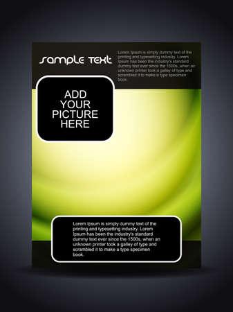 Presentation of creative flyer or cover design. Stock Vector - 18304336