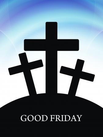 catholic symbols: Elegant religious background for good friday