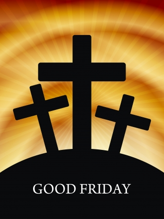 god in heaven: Elegant religious background for good friday