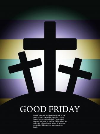 resurrección: Fondo elegante religioso para el Viernes Santo Vectores