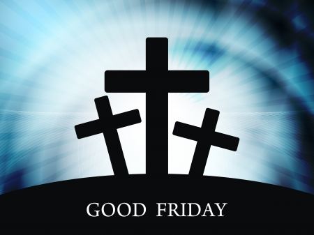 good heavens: Elegant religious background for good friday