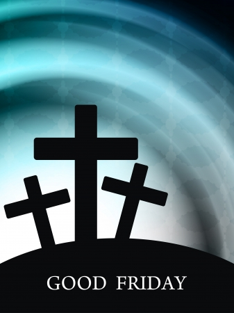 cruz de jesus: Fondo elegante religioso para el Viernes Santo Vectores