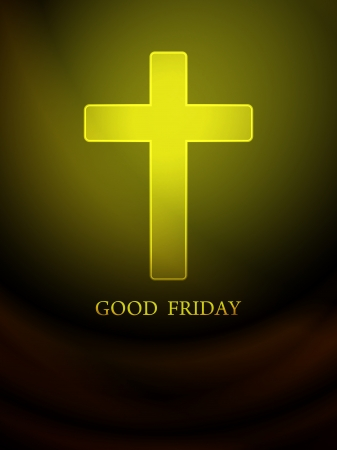 mustard: Elegant religious background for good friday
