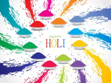 Colorful background design for Indian festival Holi  Vector