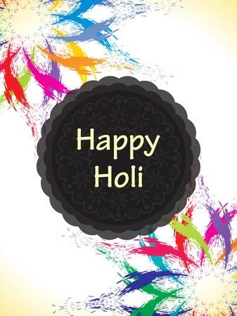 dhulandi: Colorful background design for Indian festival Holi. Illustration