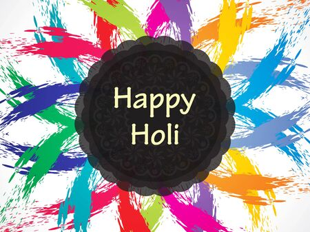 hindus: Colorful background design for Indian festival Holi. Illustration