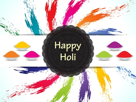 dhulandi: Colorful background design for Indian festival Holi. Illustration