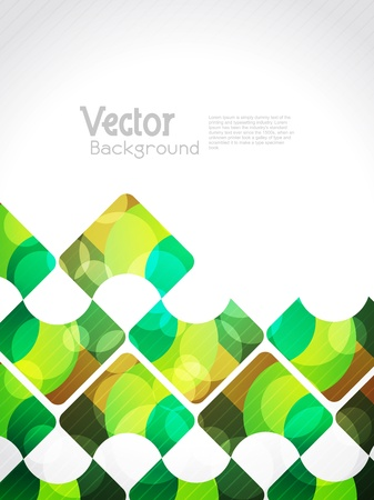 Beautiful abstract glowing background with colorful squares.  Illustration