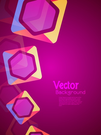 Beautiful modern decorative background designs with colorful shapes. Vector