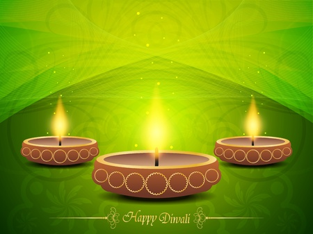 Colorful background for diwali with beautiful lamps Stock Vector - 19027050