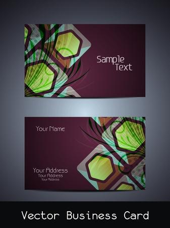 Presentation of visiting card design Stock Vector - 19027045