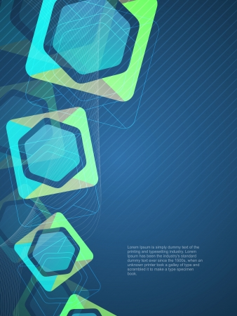 Beautiful modern decorative background designs with colorful shapes.