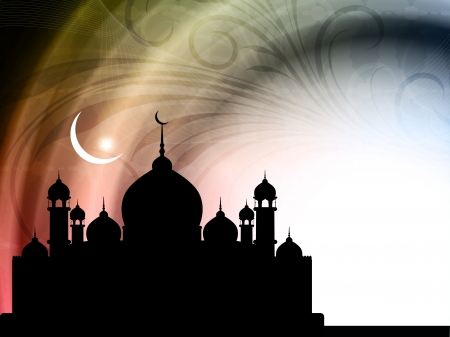 fitr: Elegant colorful background design for eid.