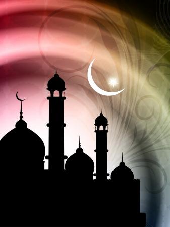 relegion: Artistic religious Eid background with mosque