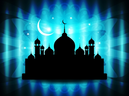 Abstract religious eid background with mosque Stock Vector - 19915652