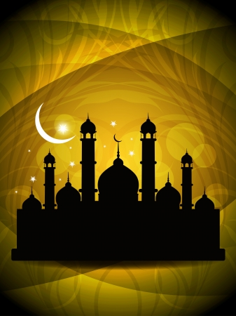 ramazan: Abstract religious eid background with mosque