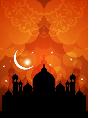 quran: Artistic religious eid background with mosque.
