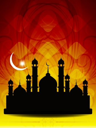 Artistic religious eid background with mosque. Stock Vector - 19915694