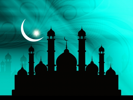 Abstract religious eid background with mosque. Stock Vector - 20244781