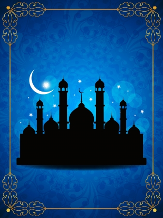 Abstract religious eid background with mosque  Stock Vector - 20245118