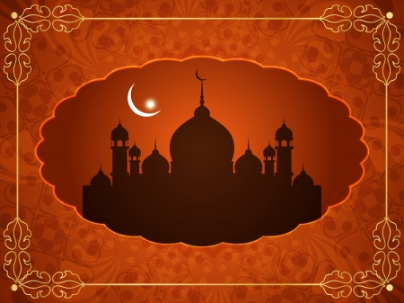 arabian background: Abstract religious eid background with mosque.