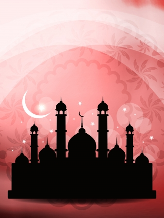 relegion: Artistic religious eid background with mosque.
