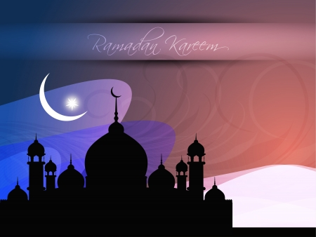 feter: Abstract religious eid background with mosque