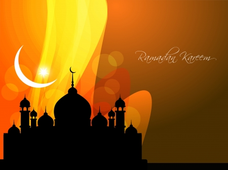 Abstract religious eid background with mosque  Vector