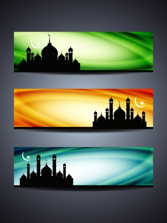 header or banner set for ramadan and eid Vector